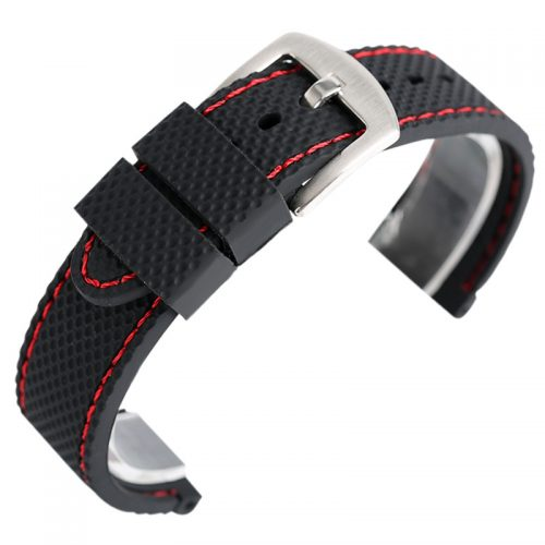 Bracelete Desportiva Relógio NY Vermelha