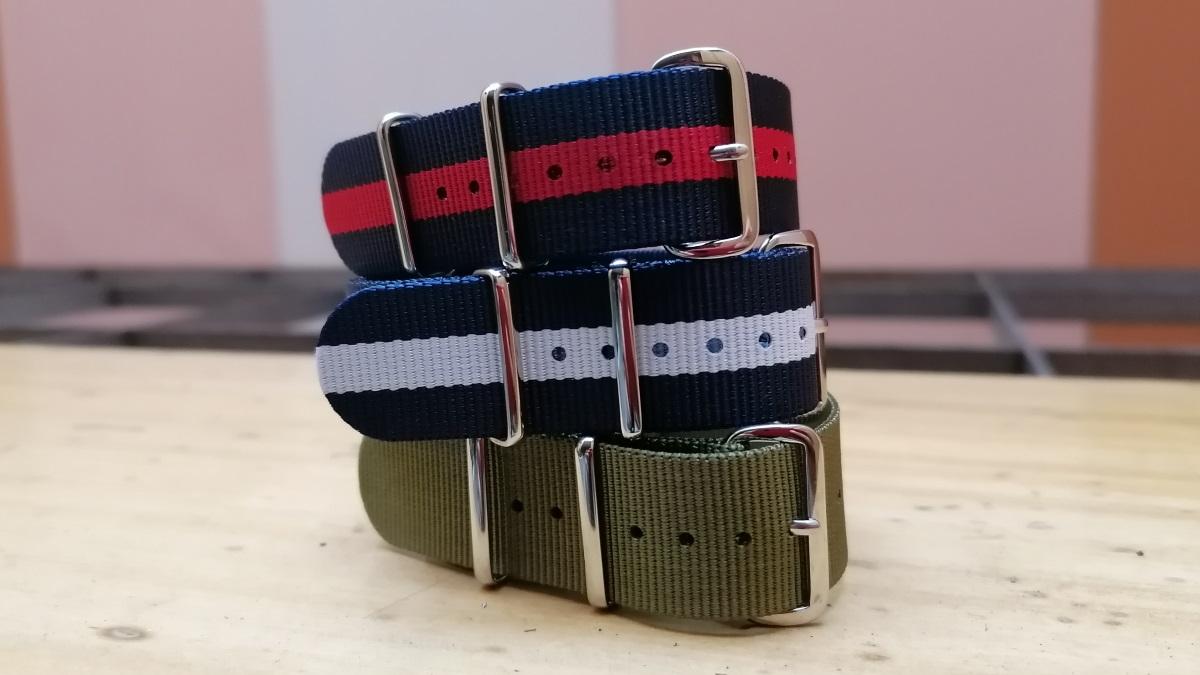 Novas cores disponíveis de braceletes nato