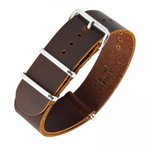 Nato Leather Dark Brown